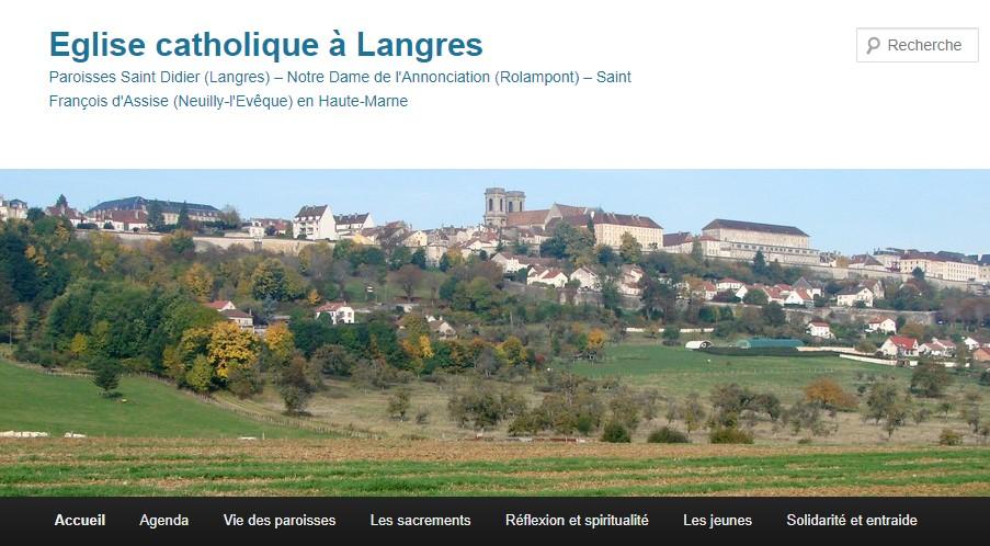 1ère page du blog de Langres