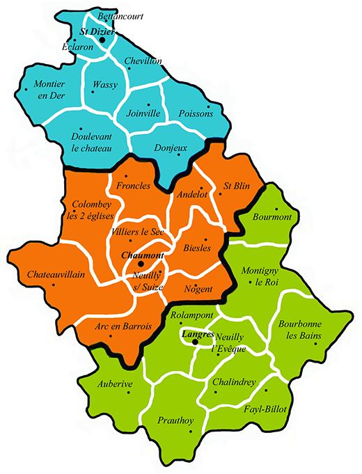 Carte du diocèse de Langres